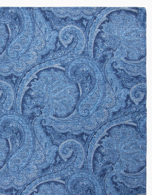 Blue Paisley & Dot Reversible Pocket Square