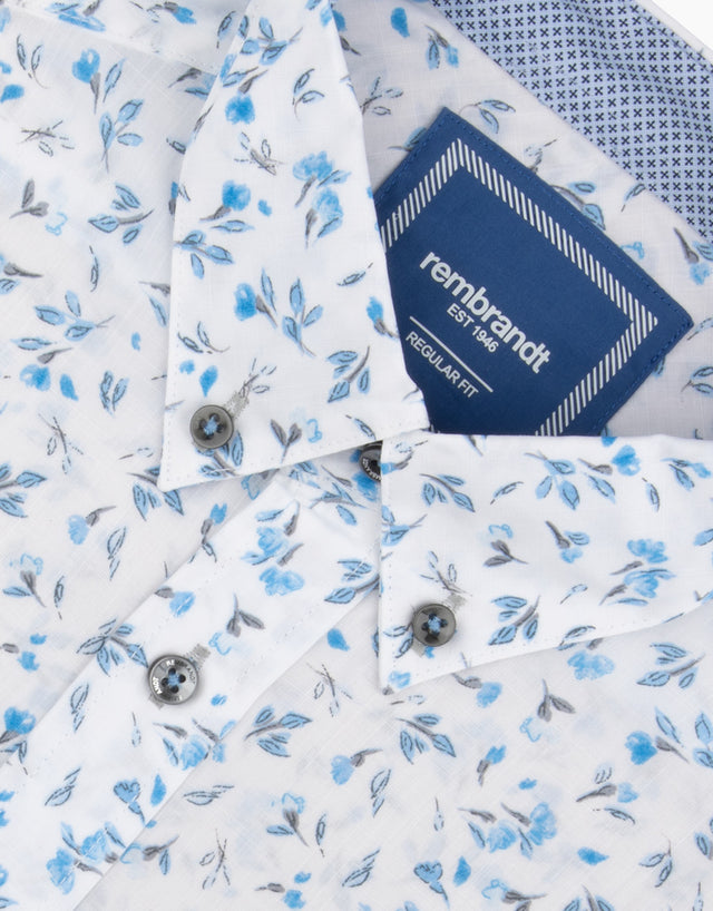 Awaroa Blue Floral Shirt