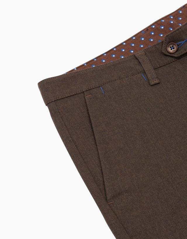 Soho Brown Casual Chinos