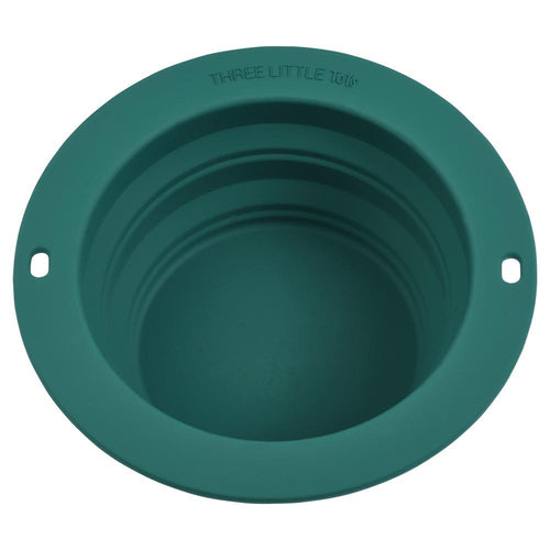 Forrest Green Collapsible Bowl for Travel or Home