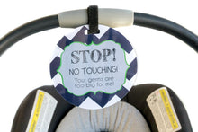 Load image into Gallery viewer, Newborn baby boy seahawk car seat sign to not touch baby stroller