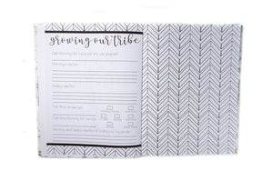 Hard Cover Modern Baby Book First Year Baby Memory Journal