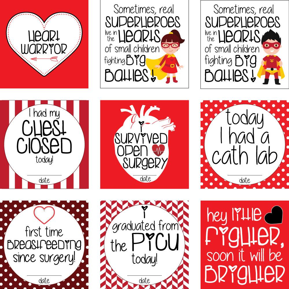 CHD Heart Warrior Plastic Milestone Cards