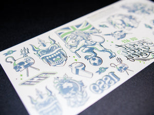 1889 x AnyForty Temporary Tattoo Sheet