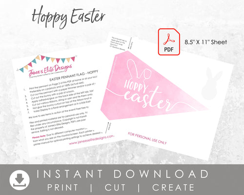 Hoppy Easter Pennant Flag Printable