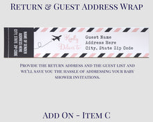 Load image into Gallery viewer, Airplane Baby Shower Address Wrap Air Mail Design