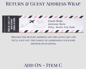 Airplane Baby Shower Address Wrap Air Mail Design
