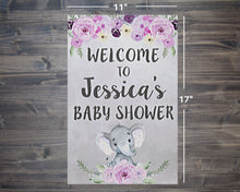 Load image into Gallery viewer, Baby Shower Elephant Theme Welcome Sign