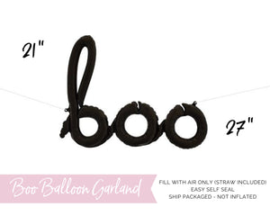 Boo Balloon Garland Halloween