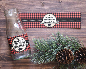 Buffalo Plaid Wild One Birthday Decorations