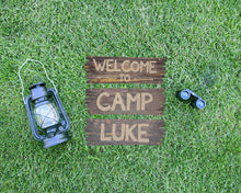 Load image into Gallery viewer, Camping Party Welcome Sign