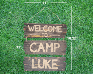 Camping Party Welcome Sign