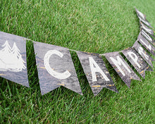 Load image into Gallery viewer, Camping Party Decorations Banner