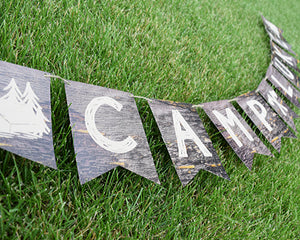 Camping Party Decorations Banner