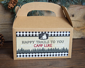 Camping Party Favor Box