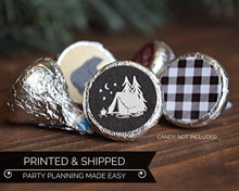 Load image into Gallery viewer, Camping Party Favors Candy Stickers