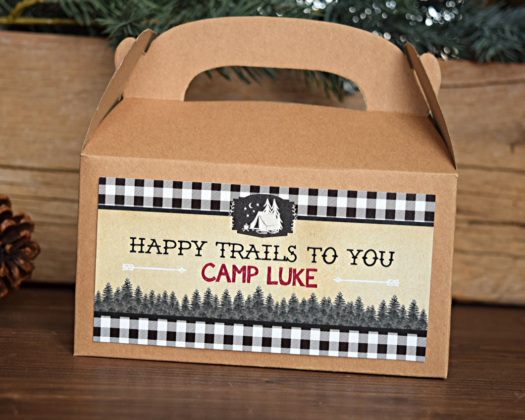 Camping Party Favors Gable Box