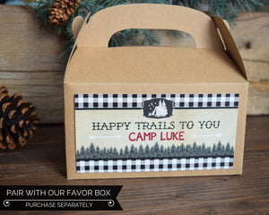 Camping Party Happy Trails Favor Box