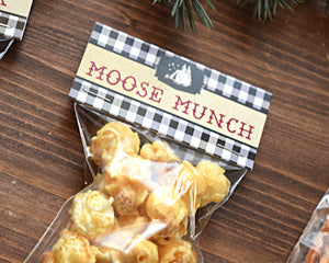 Camping Party Moose Munch Bag Topper