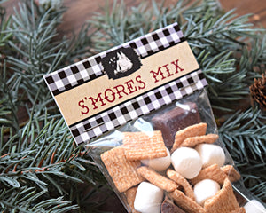 Camping Party Smore Mix Bag Topper