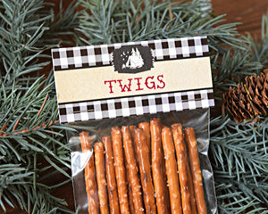 Camping Party Twigs Bag Topper