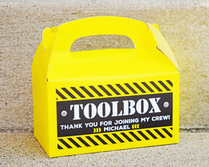 Construction Birthday Party Crew Toolbox
