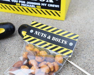 Construction Party Favors Nuts & Bolts