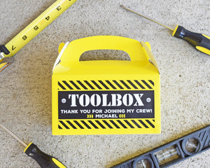 Construction Birthday Party Favor Toolbox