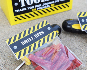 Construction Party Favors Drill Bits