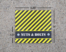 Load image into Gallery viewer, Construction Party Favors Nuts and Bolts Bag Topper