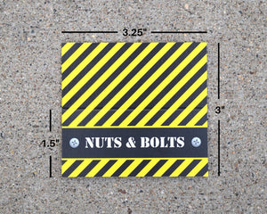 Construction Party Favors Nuts and Bolts Bag Topper