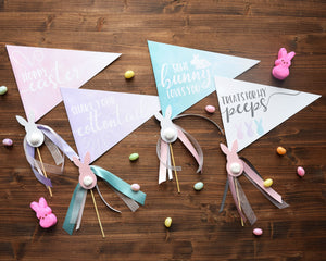 Easter Basket Pennant Flags