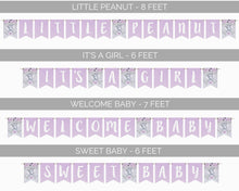 Load image into Gallery viewer, Elephant Baby Shower Banner Wording Options