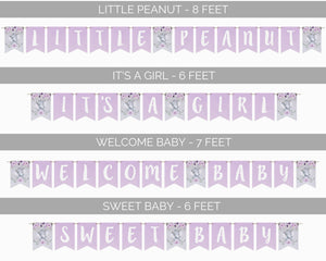 Elephant Baby Shower Banner Wording Options