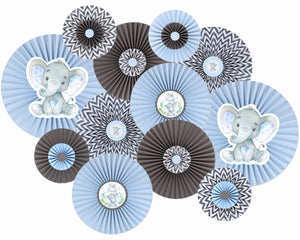 Elephant Baby Shower Paper Fans