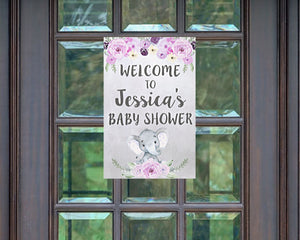 Elephant Baby Shower Decoration Welcome Sign