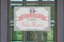 Load image into Gallery viewer, Elephant Baby Shower Decorations Welcome Sign