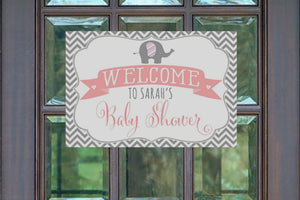 Elephant Baby Shower Decorations Welcome Sign