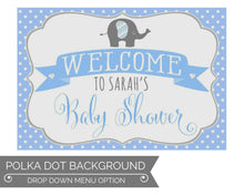Load image into Gallery viewer, Elephant Baby Shower Decorations in Gray and Blue