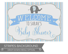 Load image into Gallery viewer, Boy Baby Shower Welcome Sign Elephant Theme