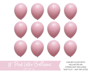 Qualatex Pink Latex Balloons
