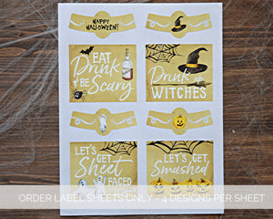 Halloween Party Hostess Gift Labels