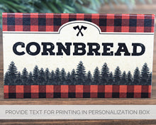 Load image into Gallery viewer, Lumberjack Birthday Decorations Chili Bar Tent Signs