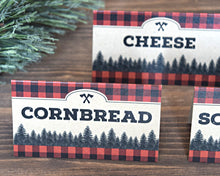 Load image into Gallery viewer, Lumberjack Birthday Chili Bar Food Labels