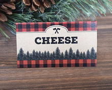 Load image into Gallery viewer, Lumberjack Buffalo Plaid Food Tent Signs
