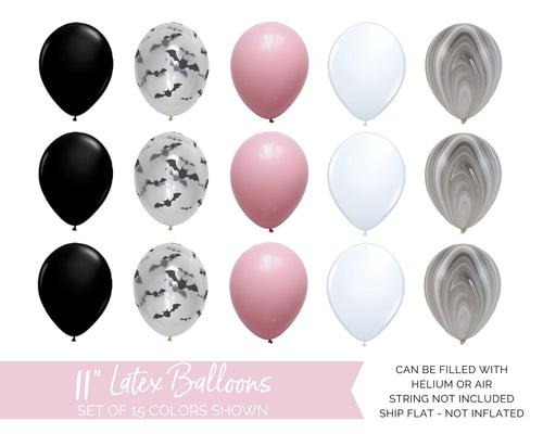 Pink Halloween Balloon Decorations
