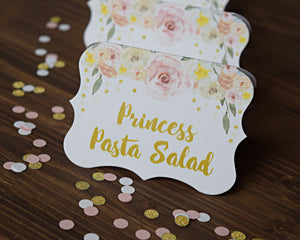 Princess Party Decorations Candy Buffet Signs