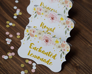 Princess Party Food Sign Decorations