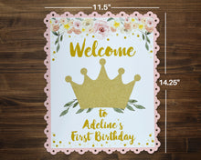 Load image into Gallery viewer, Princess Party Welcome Sign