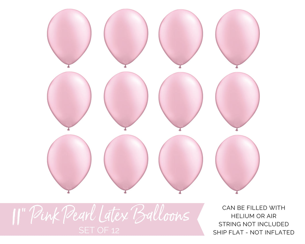Qualatex Pearl Pink Latex Balloons